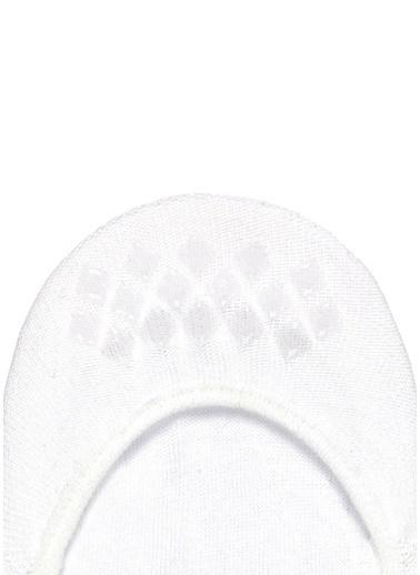 Falke Falke 101645145 Logo Baskılı Jakarlı Pamuk Erkek Çorap Beyaz